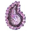 Motif Sequin Beaded 4.8x7.5cm (2pcs) Violet